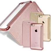 【COLORS】Apple iPhone 6 Plus / 6s Plus 5.5吋 法式浪漫裸背皮套