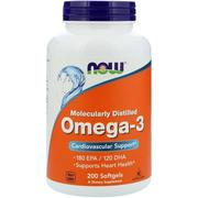 Now Foods, Omega-3, 200 軟膠囊