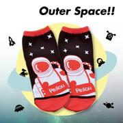 【Outer Space】太空人短襪(3入)