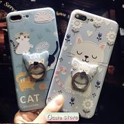 Qcute Q版貓貓浮雕手機殼 iPhone 7 Plus、iPhone 7、iPhone 6s Plus【PA06】