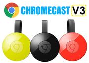 【原廠盒裝】Google Chromecast V3 媒體串流播放器 第2代 WIFI 連結 HDMI 無線串連(Android iOS)Chromecast2 投影