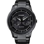 CITIZEN Eco-Drive 率性爵士風格腕錶-IP黑/42mm BU4005-56H