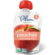 [iHerb] Plum Organics, Organic Baby Food, Stage 1, Just Peaches, 3.5 oz (99 g)