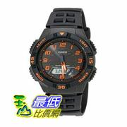 [104美國直購] Casio 男士手錶 Men's AQS800W-1B2VCF Slim Solar Multi-Function Ana-Digi Sport Watch