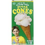 [iHerb] Edward & Sons Let's Do Organic, Gluten Free Sugar Cones, 12 Cones, 4.6 oz (132 g)