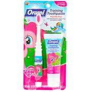 [iHerb] Orajel, My Little Pony Training Toothpaste with Toothbrush, Flouride Free, Pinkie Fruity Flavor, 3 Months to 4 Years, 1 oz (28.3 g)