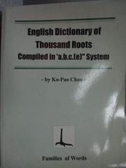 【書寶二手書T1/歷史_KQU】English Dictionary of Thousand Roots…