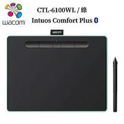 福利品-Wacom Intuos Comfort Plus Medium繪圖板(藍芽)-綠