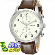 [103 美國直購] 男士手錶 Fossil Men's FS4872 Townsman Stainless Steel Watch with Brown Leather Band  $4137