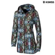 K-Swiss Print Long Windbreaker風衣外套-女-印花