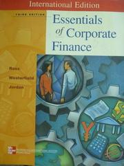 【書寶二手書T7/大學商學_QHF】Essentials of Corporate Finance_Ross_3/e