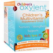 [iHerb] Vitalah, Children's Oxylent,Multivitamin Supplement Drink, Bubbly Berry Punch, 30 Stick Packets, 4.5 g Each
