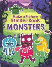 Usborne Make a Picture Sticker Book 貼紙書 Monsters *夏日微風*