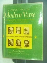 【書寶二手書T6/原文小說_JRD】The Pocket pook of Modern Verse