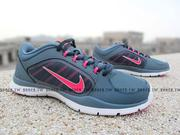 Shoestw【643083-404】NIKE WMNS FLEX TRAINER 4 訓練 慢跑鞋 灰桃 女款