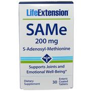 [iHerb] Life Extension, SAMe (S-Adenosyl-L-Methionine), 200 mg, 30 Enteric Coated Tablets