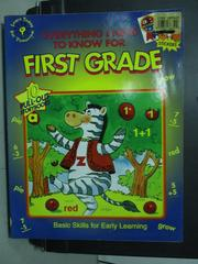 【書寶二手書T2/少年童書_WGN】Everything I Need to Know For First Grade
