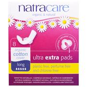 [iHerb] Natracare, Organic & Natural Ultra Extra Pads, Long, 8 Pads