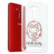 【Hello Kitty】ASUS Zenfone 2 Laser 5吋 透明 手機軟殼(花邊Kitty)