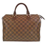 Louis Vuitton LV N41364 N41531 SPEEDY30 棋盤格紋波士頓包_現貨