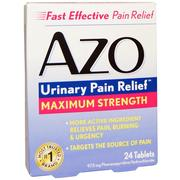 [iHerb] Azo, Urinary Pain Relief, Maximum Strength, 24 Tablets