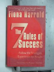 【書寶二手書T5/原文書_OSL】The Seven Rules of Success_Fiona