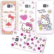 【Hello Kitty】Samsung Galaxy Note 5 立體彩繪透明保護軟套
