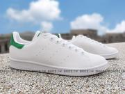 《特價7折》Shoestw【BB5153】ADIDAS Originals Stan Smith 白綠 皮革 反光 女生