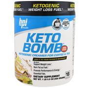 [iHerb] BPI Sports, Keto Bomb, Ketogenic Creamer For Coffee & Tea, French Vanilla Latte, 1 lbs 0.5 oz (468 g)
