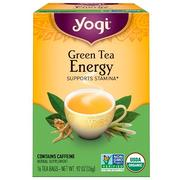 [iHerb] Yogi Tea, Organic, Green Tea Energy, 16 Tea Bags, .92 oz (26 g)