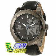 "[104美國直購] Marc Ecko Men's E12551G1 ""The Riff"" Gunmetal Stainless Steel and Black Leather Watch"