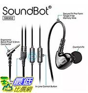 [106 美國直購] Soundbot SB302 Secure Fit Sports Active Earphone for Smartphone, Tablets, MP3 Players - Black