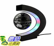 美國直購 懸浮地球儀 Magnetic Levitation Floating 3 Inches Globe World Map with LED Ligh