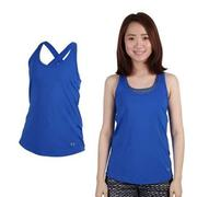 【UNDER ARMOUR】UA 女 HG COOLSWITCH運動背心-慢跑 寶藍  CoolSwitch內層
