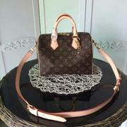 LOUIS VUITTON(LV)/M40390 經典Monogram SPEEDY 25 手提/斜背波士頓包