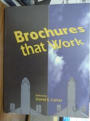 【書寶二手書T8/藝術_QHO】Brochures that work_David E. Carter