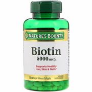 Nature's Bounty, Biotin, 5000 mcg, 150 Rapid Release Softgels