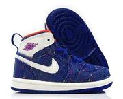 NIKE AIR JORDAN 1 RETRO HIGH DEEP 藍 白 嬰兒鞋 US 5~6 705324-411 J倉