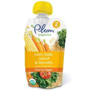 [iHerb] [iHerb] Plum Organics Organic Baby Food, Stage 2, Hearty Veggie, Corn, Kale, Carrot & Tomato, 3.5 oz (99 g)