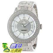 [104美國直購] Marc Ecko Men's E16533G1 Silver Iced Watch