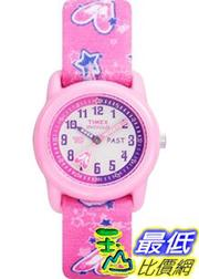 [美國直購 ShopUSA] Timex 手錶 Children's T7B151 Pink Cloth Quartz Watch with Pink Dial