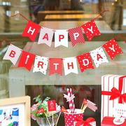 PS Mall happy birthday生日快樂派對彩旗【J709】