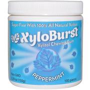 [iHerb] Xyloburst, All Natural Xylitol Gum, Peppermint, 5.29 oz (150 g), 100 Pieces