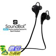 [106 美國直購] SoundBot SB561 Wireless Sports Workout Exercise Earphones with Mic Black/Black 耳機 _s17