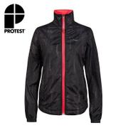 PROTEST FIT女運動外套 (真實黑) LENNY RUNNING JACKET