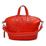 GIVENCHY NIGHTINGALE SMALL羊皮手提/肩背二用包(小-桔紅)13L5007002