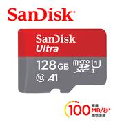 SanDisk Ultra Micro SD 128G 100Mb/s記憶卡