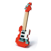 【 nanoblock 】NBC-037 紅色電吉他 Electric Guitar