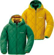 Mont-Bell 雙面羽絨外套 兒童款3-7歲 Reversible Down Parka 1101488 VI/CO 葉綠/黃