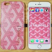 KS▸SSUE APPLE I Phone 6 CASE 粉紅 翻玩 GOYARD 手機殼 硬殼【KS018】